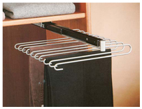 Sliding single pants rack